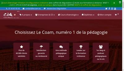 Site internet de Coam