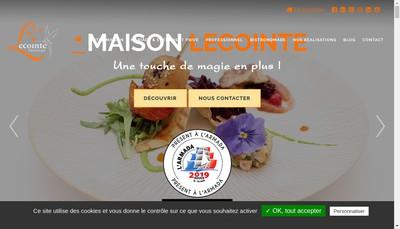 Site internet de Lecointe-Traiteur