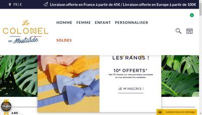 Site internet de Le Colonel Moutarde