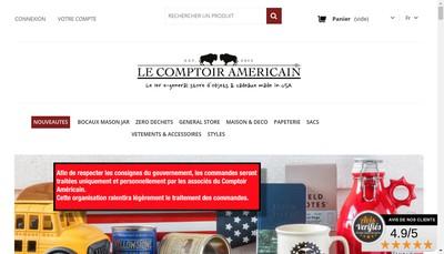 Site internet de Le Comptoir Americain