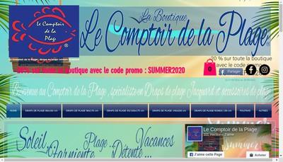 Site internet de Le Comptoir de la Plage