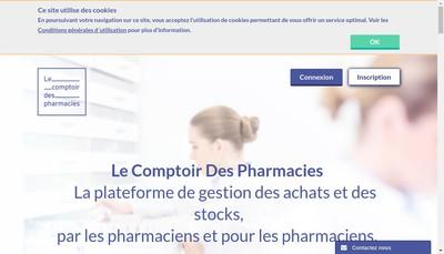 Site internet de Le Comptoir des Pharmacies
