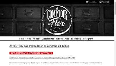 Site internet de Le Comptoir du Flex