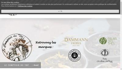 Site internet de Le Comptoir du The