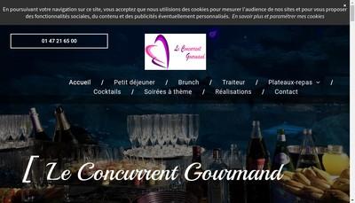 Site internet de Le Concurrent Gourmand