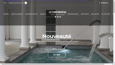 Site internet de Hotel Restaurant Continental