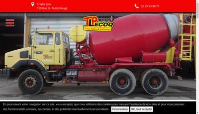 Site internet de SAS Lecoq Travaux Publics