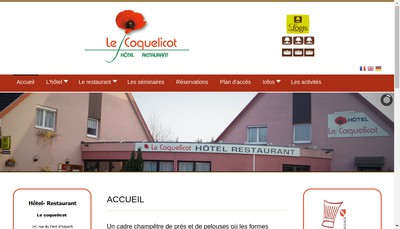 Site internet de Hotel Restaurant le Coquelicot