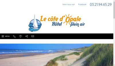 Site internet de Le Cote d'Opale Hotel de Plein Air