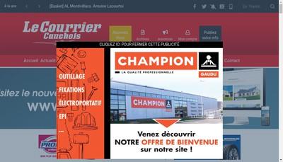 Site internet de Le Courrier Cauchois