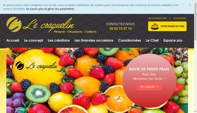 Site internet de Le Craquelin