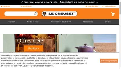 Site internet de Le Creuset