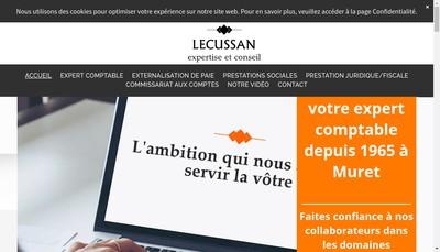 Site internet de Cabinet Lecussan