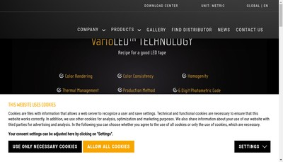 Site internet de Led Linear France