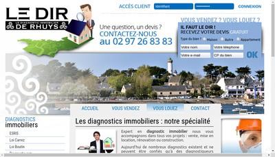 Site internet de Le Diagnostic Immobilier de Rhuys