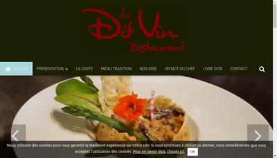 Site internet de Le Dit Vin