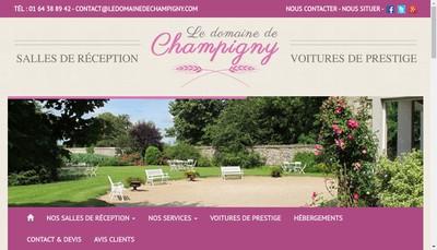 Site internet de La Ferme de Champigny