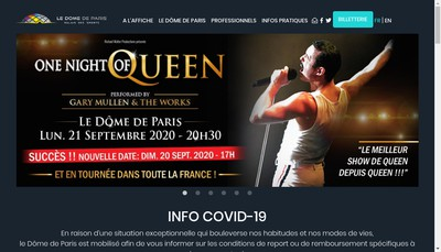 Site internet de Palais des Sports
