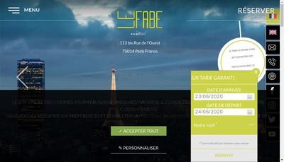 Site internet de Le Fabe Hotel