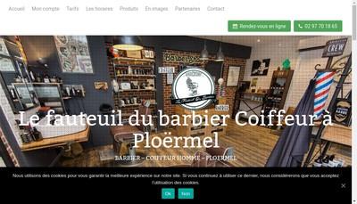 Site internet de Le Fauteuil du Barbier