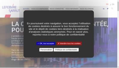 Site internet de Lefebvre Sarrut