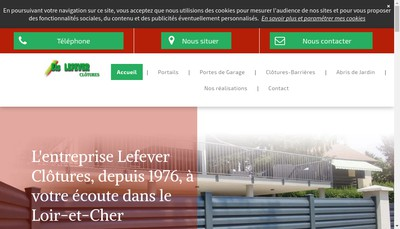 Site internet de Lefever Clotures Sn