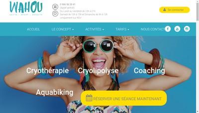 Site internet de Wahou , Wahou Sante Sport Detente