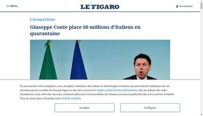 Site internet de Le Figaro