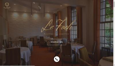 Site internet de Hotel Restaurant le Foch