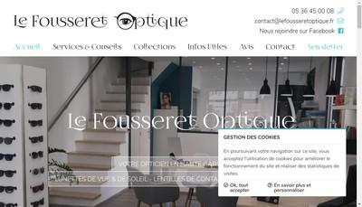 Site internet de Le Fousseret Optique