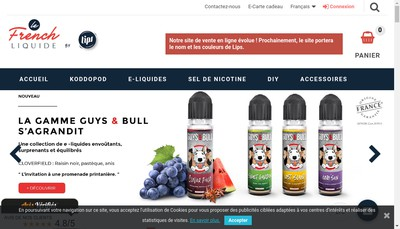 Site internet de Laboratoire Lips France