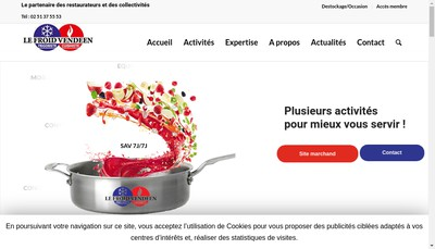 Site internet de Le Froid Vendeen Investissements
