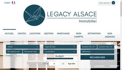 Site internet de Legacy Alsace