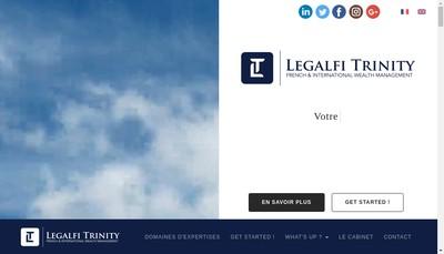 Site internet de Legalfi Trinity