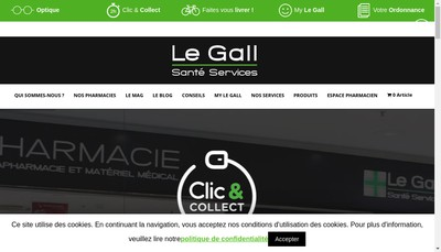 Site internet de Pharmacie le Gall - Medipro-Medipro -Pharamcie le Gall