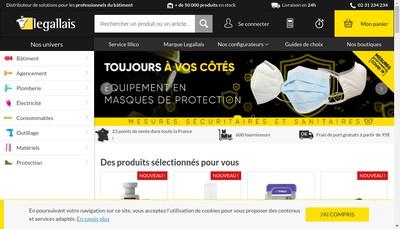 Site internet de Legallais Signalisation