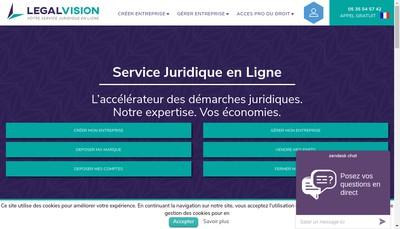 Site internet de Legalvision