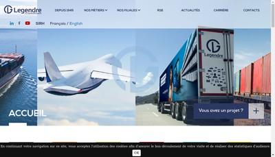 Site internet de Groupe Legendre Finances