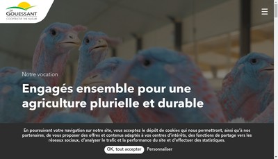 Site internet de Societe Cooperative Agricole le Gouessant