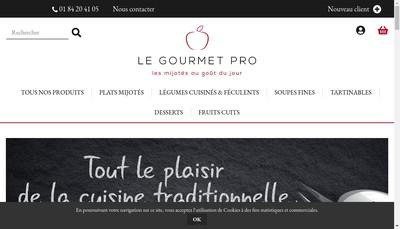 Site internet de Le Gourmet Pro