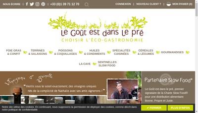 Site internet de Le Gout Est Dans le Pre