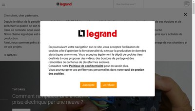 Site internet de SARL Legrand