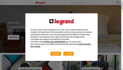 Site internet de Legrand