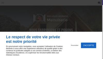 Site internet de Legrand Menuiserie