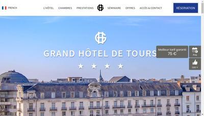 Site internet de Grand Hotel de Tours