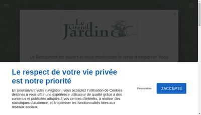 Site internet de Grand Jardin Restaurant-Chambres d'Hotes