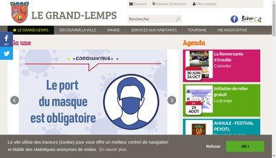 Site internet de La Mie du Grand Lemps
