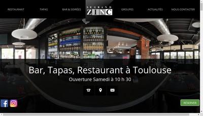 Site internet de Le Grand Zinc