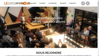 Site internet de Le Groupe Nova