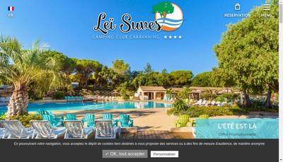 Site internet de Lei Suves Camping